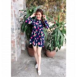 Robe à motif fleur