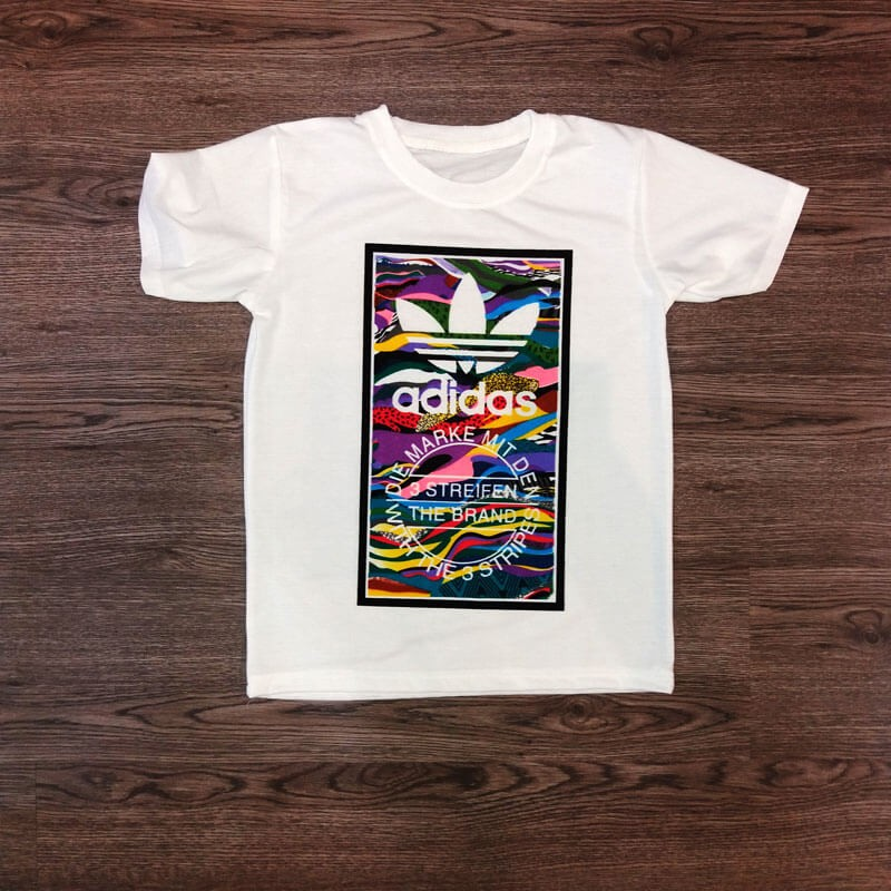 T-shirt Adidas peinture