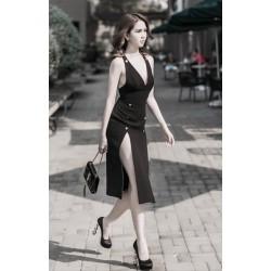Đầm sexy xẻ tà ngọc trinh