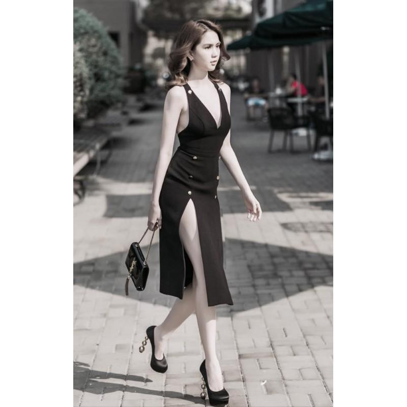 Đầm sexy xẻ tà ngọc trinh 144