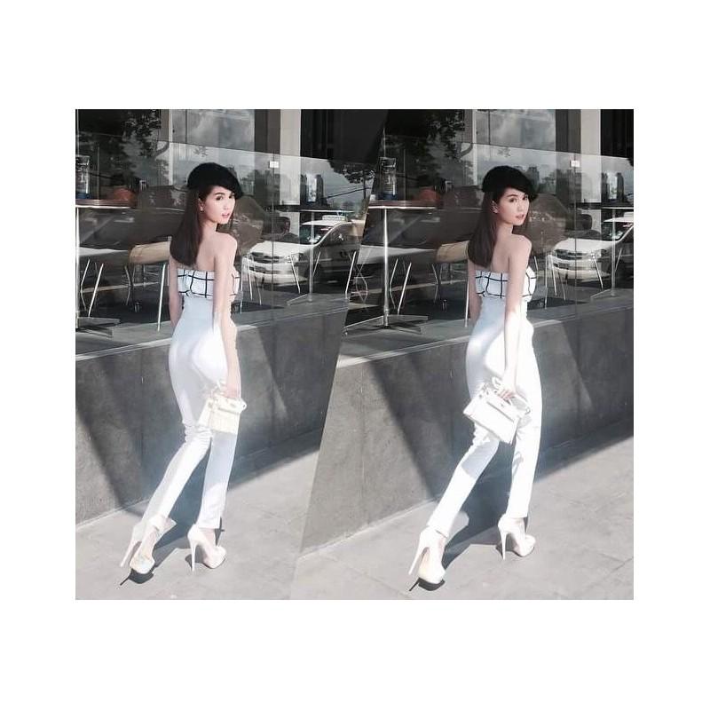 Ngoc Trinh white set