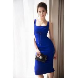 Robe moulante bleue 302