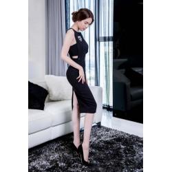Stylish black dress Ngoc Trinh 316