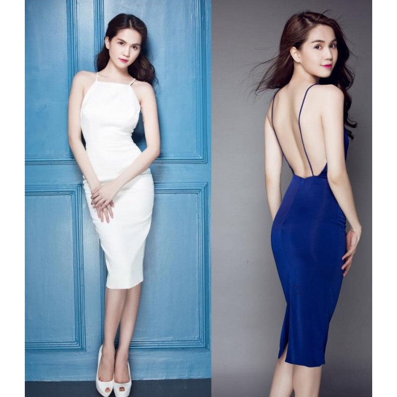 Ngoc Trinh backless dress