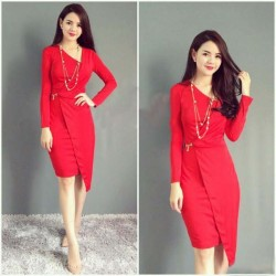 Long sleeved dress 390