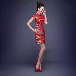 Đầm thêu hình rồng hongkong 408