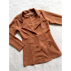 Áo khoác vest màu nâu vàng 475